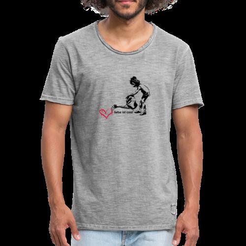 liebe ist cool - Männer Vintage T-Shirt