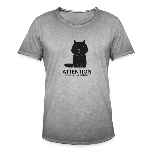 Chat noir - T-shirt vintage Homme