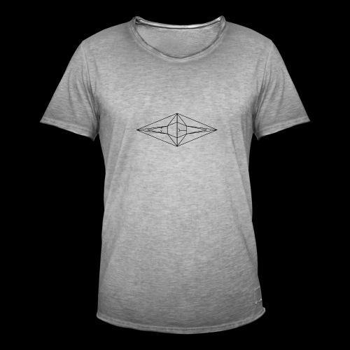 Schwarz-Weiß Meo Logo - Männer Vintage T-Shirt