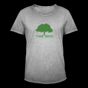 think green - Camiseta vintage hombre