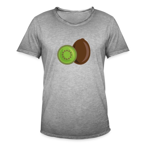 Kiwi logo - Männer Vintage T-Shirt