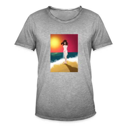 Lipiec - Koszulka męska vintage