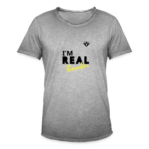 REAL Bomber - Maglietta vintage da uomo