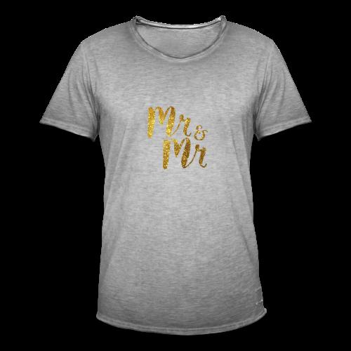 Mr & Mr . Stag / Wedding Day - Men's Vintage T-Shirt