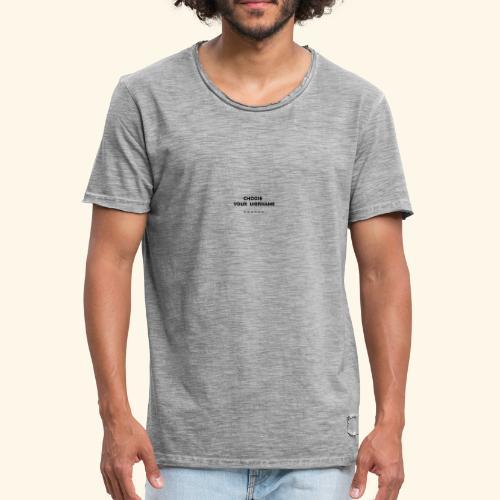 choose username - T-shirt vintage Homme