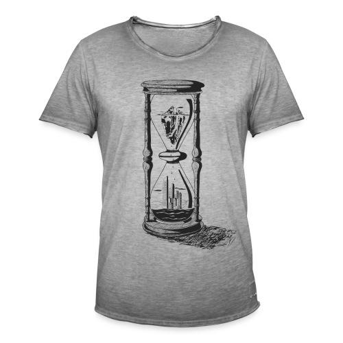 Sanduhr – Klimawandel - Männer Vintage T-Shirt