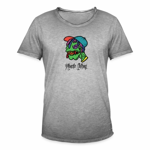 Monsta T-Shirt With Text - Men's Vintage T-Shirt