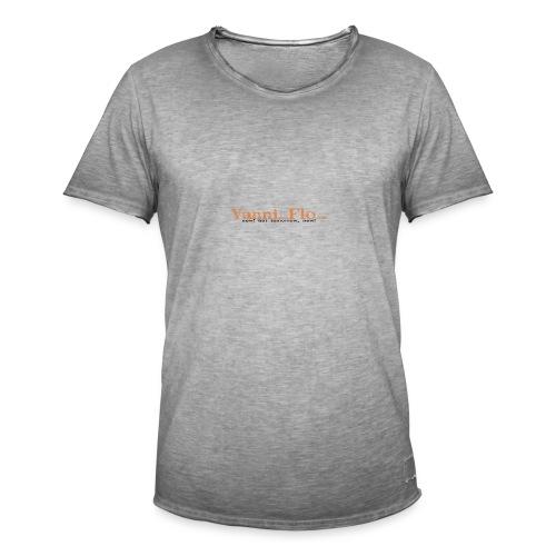 Logo-Schrift-Zug - Männer Vintage T-Shirt