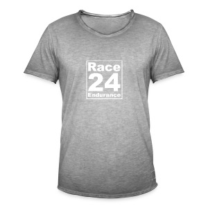 Race24 Logo - White - Men's Vintage T-Shirt
