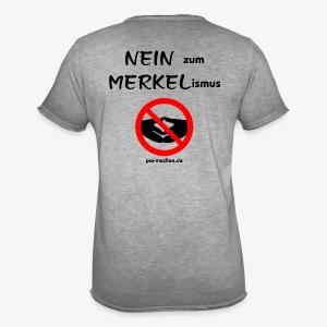 NEIN zum MERKELismus - Männer Vintage T-Shirt