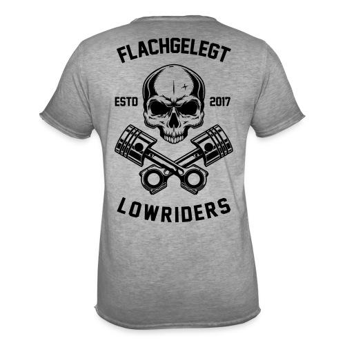flachgelegt lowrider skull 2 back - Männer Vintage T-Shirt