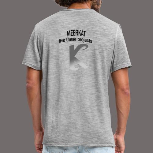 Première collection MEERKAT - logo et slogan - T-shirt vintage Homme