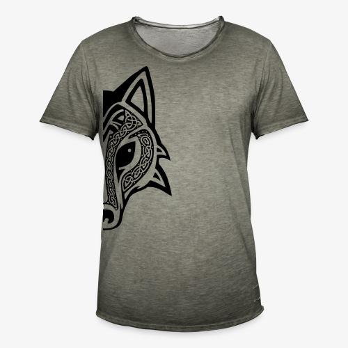 Celtic Wolf half - Men's Vintage T-Shirt