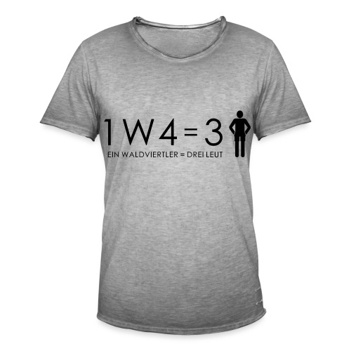 1W4 3L - Männer Vintage T-Shirt