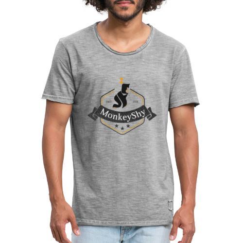 MonkeyShy logo fanion - T-shirt vintage Homme