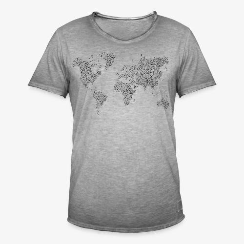 World - Männer Vintage T-Shirt