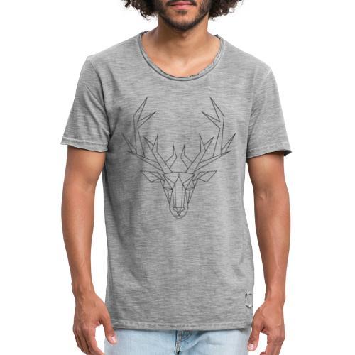 MonkeyShy tête de cerf noir paillettes - T-shirt vintage Homme