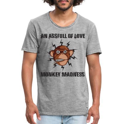Monkey Madness - Männer Vintage T-Shirt