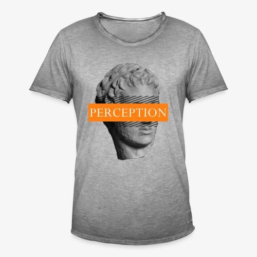 TETE GRECQ ORANGE - PERCEPTION CLOTHING - T-shirt vintage Homme