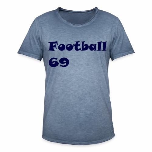 Fußball Football 69 outdoor T-shirt blue - Männer Vintage T-Shirt