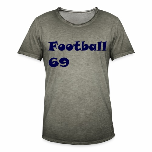 Fußball Football 69 outdoor T-shirt blue - Männer Vintage T-Shirt
