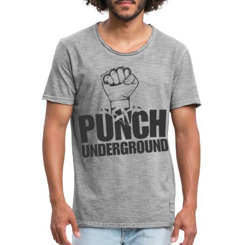 Punch Underground Black - Männer Vintage T-Shirt