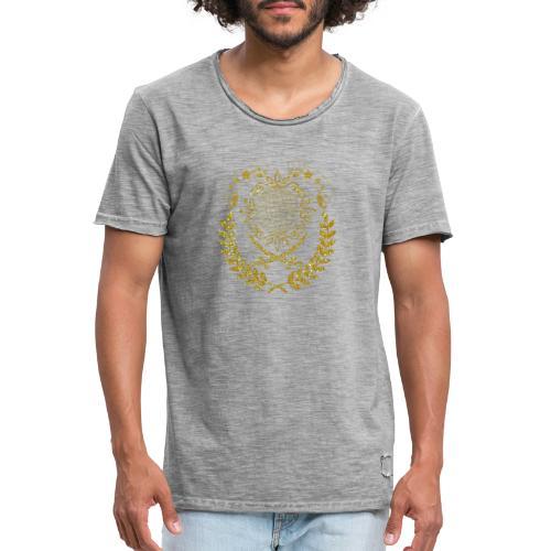 Magnifique fanion couleur or pailleté - T-shirt vintage Homme
