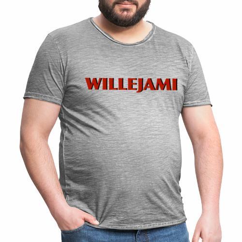 Willejami - Vintage-T-shirt herr