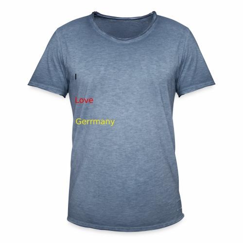 deutschland germany liebe love ich ego farbe - Männer Vintage T-Shirt