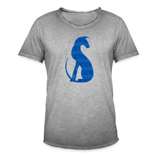 Siluett blå - Vintage-T-shirt herr