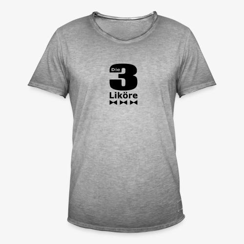 Die 3 Liköre - logo schwarz - Männer Vintage T-Shirt