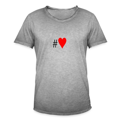 Hashtag Heart - Men's Vintage T-Shirt