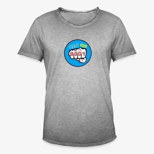 logo fyb bleu ciel - T-shirt vintage Homme