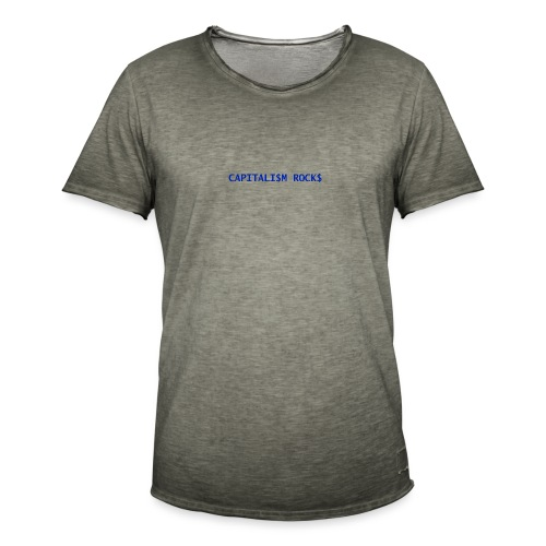 CAPITALISM ROCKS - Maglietta vintage da uomo