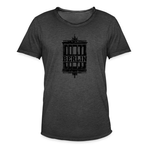 Berlin Brandenburger Tor Wasserspiegelung cool - Männer Vintage T-Shirt