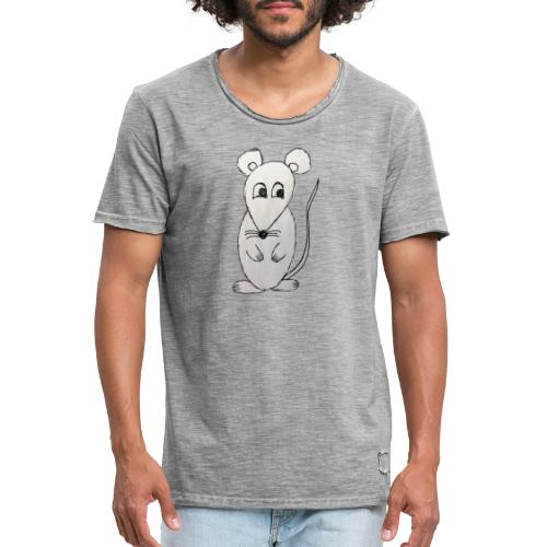 LackyMouse - Männer Vintage T-Shirt