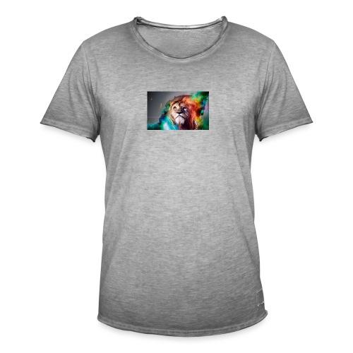 hero lion - T-shirt vintage Homme