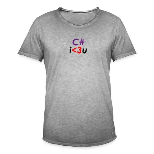 C# is love - Maglietta vintage da uomo
