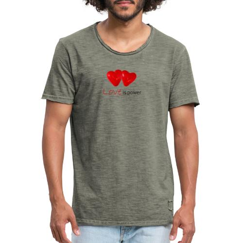 Love is power - T-shirt vintage Homme