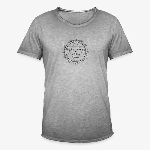 Heartcore Yoga - Mannen Vintage T-shirt