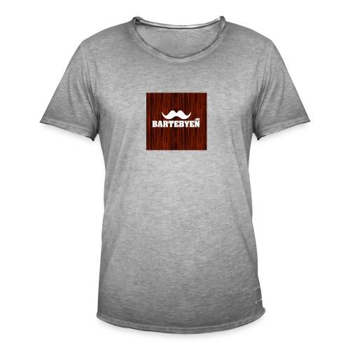 logo bartebyen buttons - Vintage-T-skjorte for menn