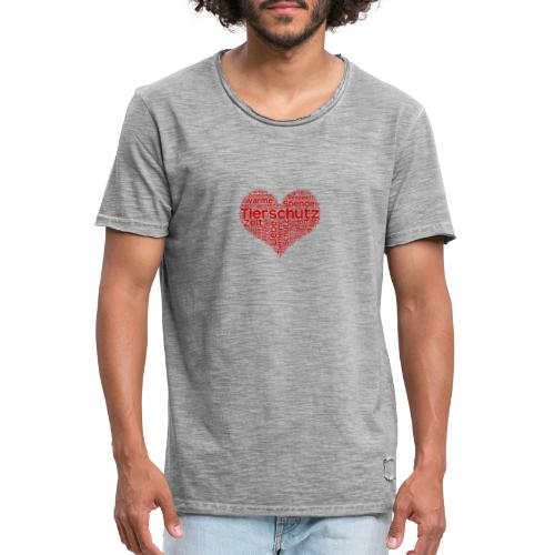 Tierschutz - Männer Vintage T-Shirt