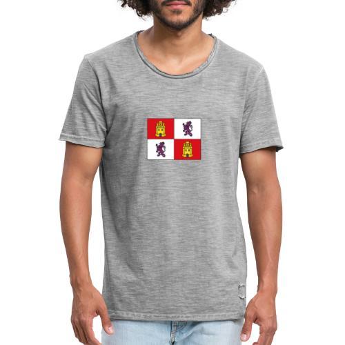 ESCUDO CASTILLA Y LEON - Camiseta vintage hombre