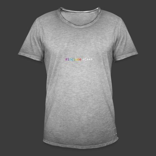 rainbow for dark background - Men's Vintage T-Shirt