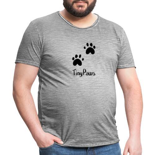 Tiny Paws Logo - Men's Vintage T-Shirt