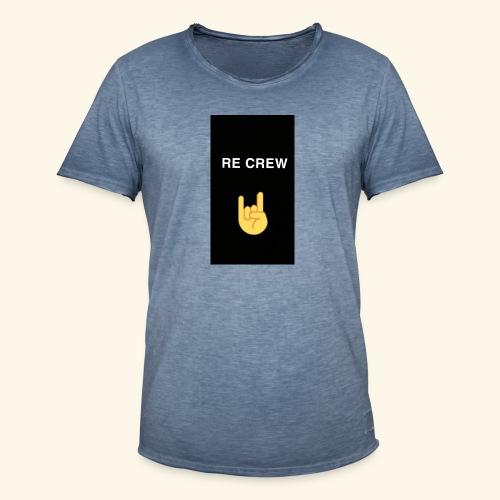 Re Crew T-shirt - Männer Vintage T-Shirt