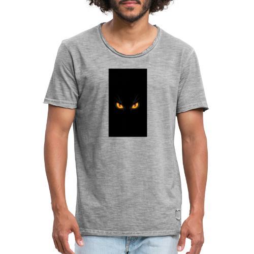 Black cat eye - Männer Vintage T-Shirt