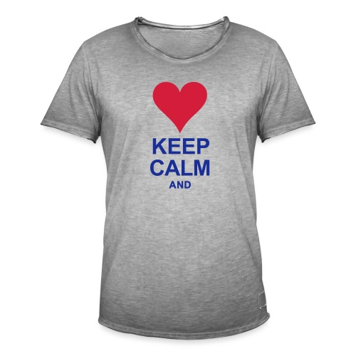 Be calm and write your text - Men's Vintage T-Shirt