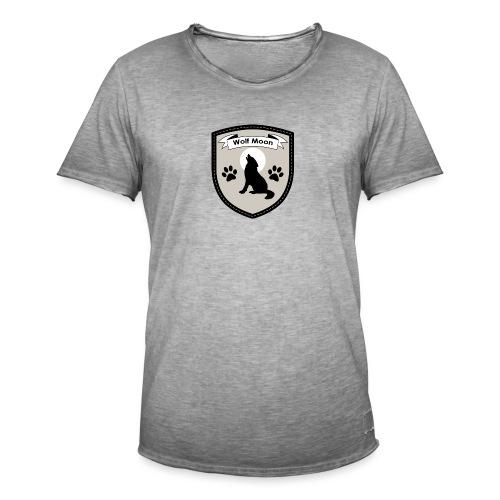 Wolf Moon Crest - Men's Vintage T-Shirt