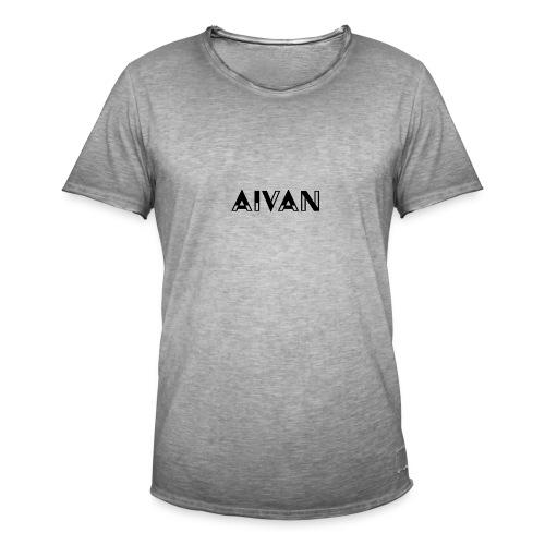 Aivan - Musta teksti - Miesten vintage t-paita